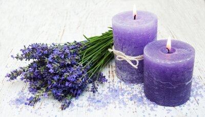 Наклейка candle, lavender and sea salt