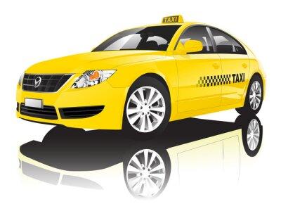 Наклейка Car Cab Taxi Public Shiny Performance Concept