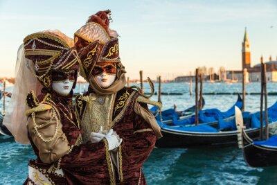 Наклейка Карнавал Венеция