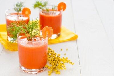 Наклейка Морковный сок в очках и мимозы филиала