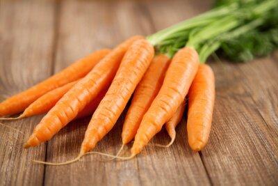Наклейка Морковь на деревянный стол
