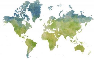 Наклейка Cartina Mondo, disegnata Illustrata pennellate