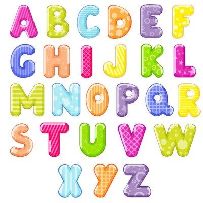 Наклейка мультфильм алфавит