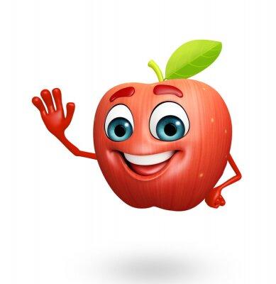 Наклейка Cartoon character of apple fruit