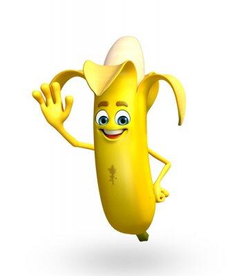 Наклейка Мультипликационный персонаж банана фруктов