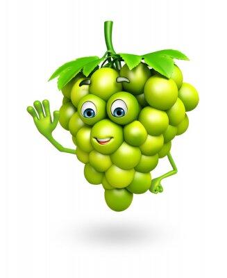 Наклейка Мультипликационный персонаж винограда