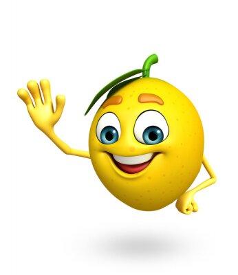 Наклейка Мультипликационный персонаж лимона