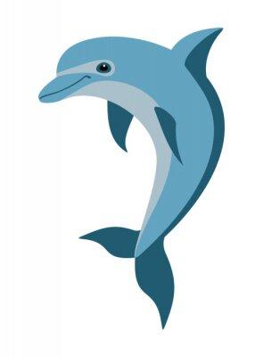 Наклейка cartoon dolphin