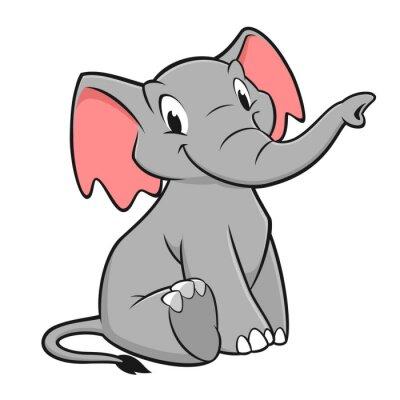 Наклейка Мультфильм слон