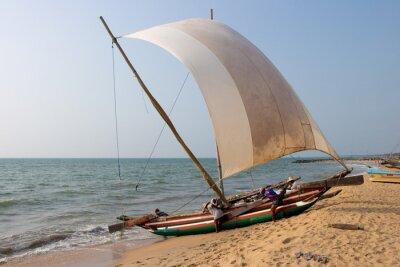 Наклейка Пляж Катамаран Негомбо, Шри-Ланка