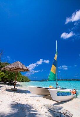 Наклейка Catamaran over a wonderful tropical beach