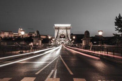 Наклейка Цепной мост в ночное время