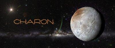 Наклейка Харон в космическом пространстве.