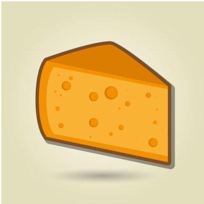 Наклейка значок дизайн сыра