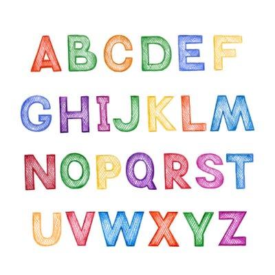 Наклейка Детская мультфильм ABC