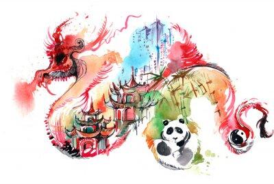 Наклейка Китай