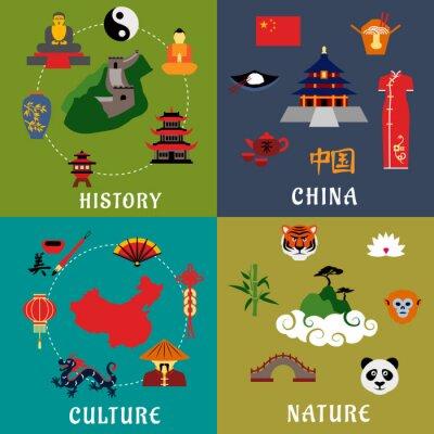 Наклейка Китай история, культура и природа иконы
