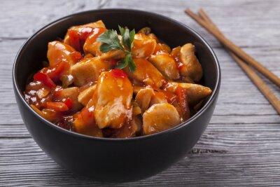 Наклейка Китайский куриный кисло-сладким соусом
