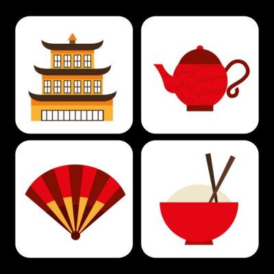 Наклейка китайская культура