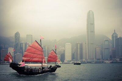 Наклейка китайский парусник стиль в Гонконге