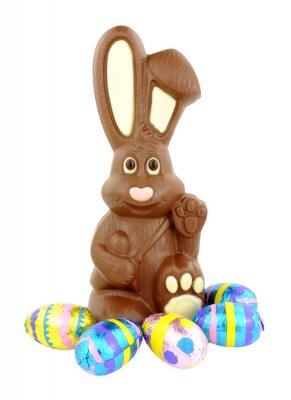 Наклейка Шоколад Пасхальный заяц и яйца