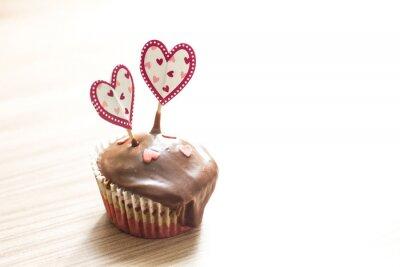 Наклейка Шоколадный кекс Десерт