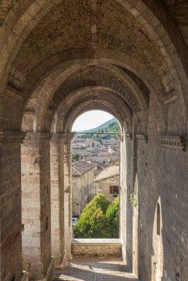 Наклейка Cityscape of Gubbio near Perugia (Italy)