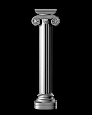 Наклейка Классический колонна на черном фоне