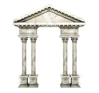 Наклейка Классический Коринфский Колонка Arch.