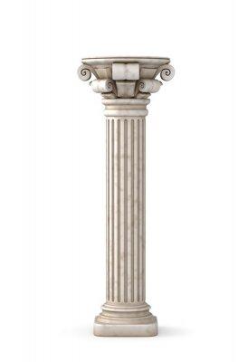 Наклейка Классический греческий Столп. 3D-рендеринг.