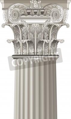 Наклейка classical column