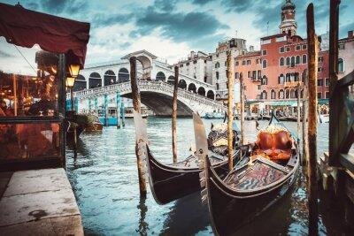 Наклейка Классический вид на мост Риальто - Венеция