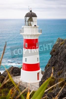 Наклейка Крупным планом красивой маяка на мысе Palliser, Северный остров, Новая Зеландия