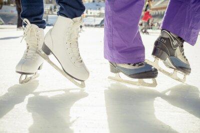 Наклейка Крупным планом катание обувь коньках на открытом воздухе на каток