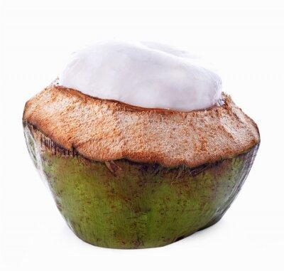 Наклейка Скорлупы кокосового ореха, изолированных на белом фоне