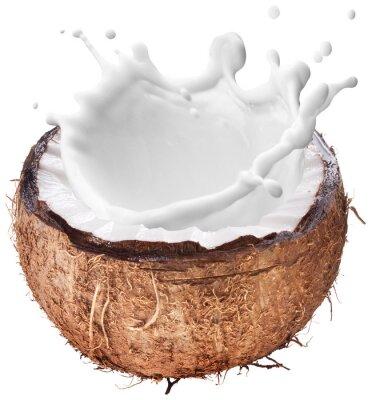 Наклейка Кокосовое молоко всплеск внутри.
