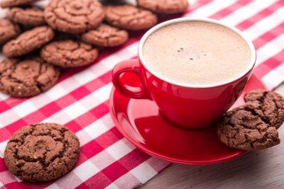 Наклейка кофе и печенье
