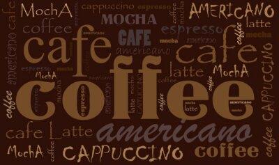 Наклейка Кофе фон