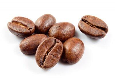 Наклейка Кофе в зернах, изолированные