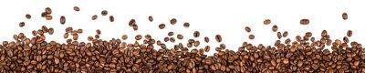Наклейка кофе в зернах на белом фоне
