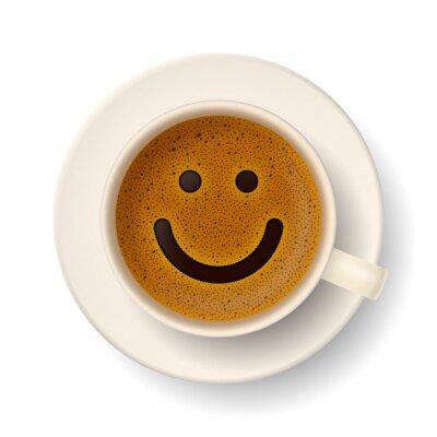 Наклейка Чашка кофе для хорошего настроения