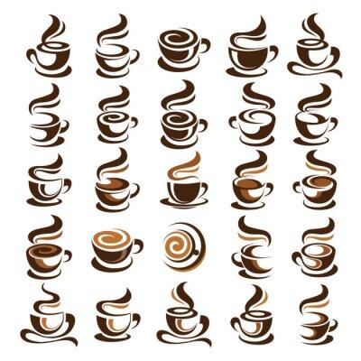 Наклейка вектор чашка кофе