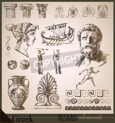 Наклейка collection of design elements Ancient Rome