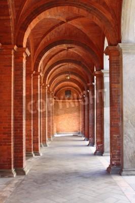 Наклейка Колоннада в романском стиле обители