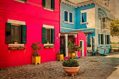 Наклейка Красочные жилой дом в Бурано, Италия 1