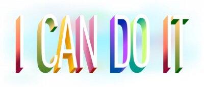 Наклейка Colorful illustration of