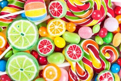 Наклейка Красочные леденцы и конфеты