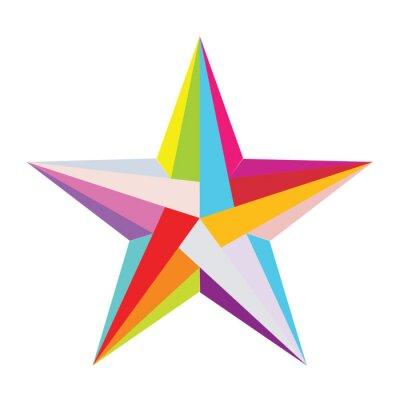 Наклейка красочные звезды