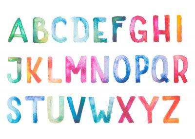 Наклейка Красочные акварель акварель шрифт рукописные рука ничья