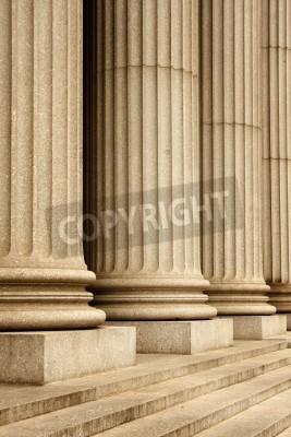 Наклейка Колонны здания Верховного суда - Нью-Йорк, США